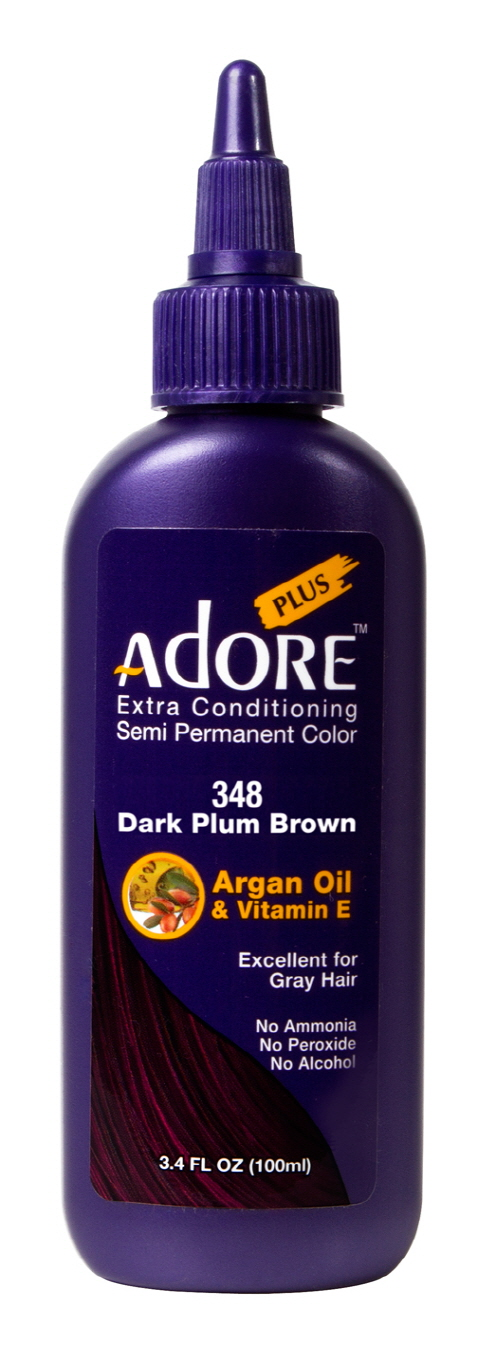 Adore Plus 348-Dark Plum Brown