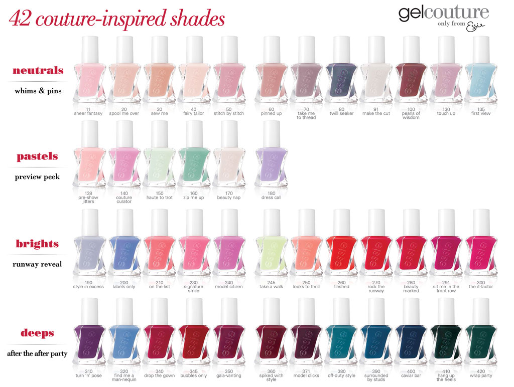Essie Gel Couture Nail Polish 0.46oz *Choose Any 1 Color* 11 - 420 ...